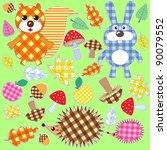 Set Of Textile Stickers.autumn...