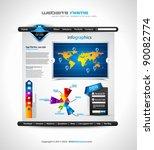 complex origami website  ... | Shutterstock .eps vector #90082774