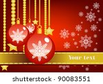 vector red new year background   Shutterstock .eps vector #90083551