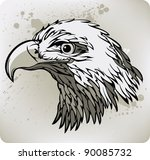 eagle. vector illustration. | Shutterstock .eps vector #90085732
