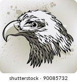 eagle. vector illustration.   Shutterstock .eps vector #90085732