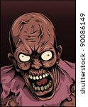 zombie with angry face | Shutterstock .eps vector #90086149
