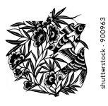 bird   flower   Shutterstock . vector #900963