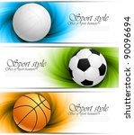 set of banners with balls | Shutterstock .eps vector #90096694
