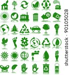 set of ecology icons | Shutterstock .eps vector #90105028