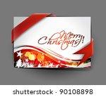 christmas greeting card design  ... | Shutterstock .eps vector #90108898