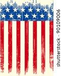 american grunge flag. an... | Shutterstock .eps vector #90109006
