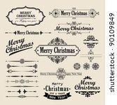 christmas vintage design... | Shutterstock .eps vector #90109849
