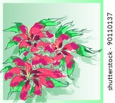 floral background  greeting... | Shutterstock .eps vector #90110137