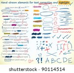 collection of hand drawn text... | Shutterstock .eps vector #90114514