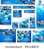collection of christmas banners ... | Shutterstock .eps vector #90118819