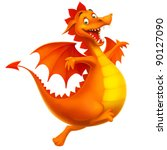dragon cute smiling happy as... | Shutterstock .eps vector #90127090