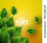 green leaves | Shutterstock .eps vector #90128218