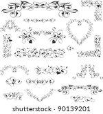 flower vintage royal design... | Shutterstock .eps vector #90139201