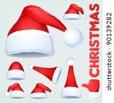 christmas santa claus hat... | Shutterstock .eps vector #90139282