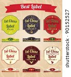 collection of vintage labels ... | Shutterstock .eps vector #90152527