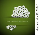 Vector White Paper Christmas...