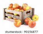 Wooden Box Full Of Apples