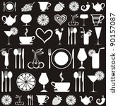 food and drink seamless pattern.... | Shutterstock .eps vector #90157087