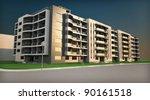 3d rendering of the building | Shutterstock . vector #90161518