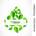 nature background   Shutterstock .eps vector #90163864