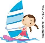 enjoy recreation   Shutterstock .eps vector #90164506