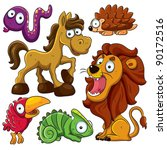 animals collection | Shutterstock .eps vector #90172516