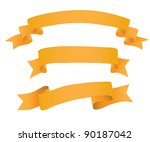 ribbon collection. vector. | Shutterstock .eps vector #90187042