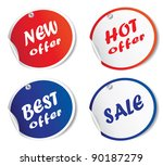colorful bubble tags isolated... | Shutterstock .eps vector #90187279