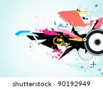 vector illustration of abstract ...