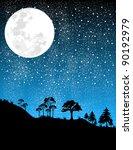 Night Moon Illustration
