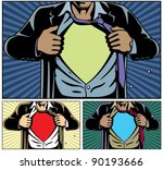superhero under cover  comic... | Shutterstock .eps vector #90193666
