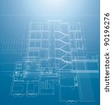 vector architectural blueprint...   Shutterstock .eps vector #90196276