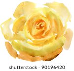 Close Up Of A Yellow Rose....