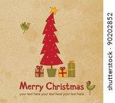 cute merry christmas card | Shutterstock .eps vector #90202852