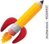 rocket pencil | Shutterstock . vector #90204937