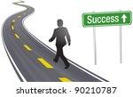 business person walks past... | Shutterstock .eps vector #90210787