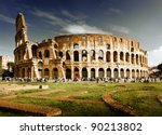 colosseum in rome  italy | Shutterstock . vector #90213802