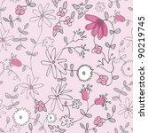 Pink Little Flower Seamless...