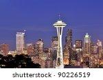 Space Needle  Seattle Skyline...