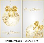 christmas gold  banners | Shutterstock .eps vector #90231475