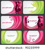 vector collection of gift cards ...