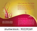 golden layout design | Shutterstock .eps vector #90239269