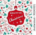vector christmas background.... | Shutterstock .eps vector #90243331