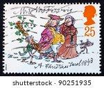 great britain   circa 1993  a... | Shutterstock . vector #90251935