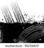 black background with tire... | Shutterstock .eps vector #90256825