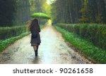 girl under rain | Shutterstock . vector #90261658