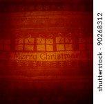 grunge christmas background... | Shutterstock . vector #90268312