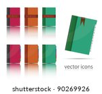 set of organiizer icons. vector   Shutterstock .eps vector #90269926