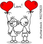 Couple In Love  A Child's...